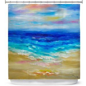 Premium Shower Curtains | Lam Fuk Tim - Waves Abstract lll