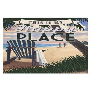Decorative Floor Coverings | Lantern Press - Beach Happy Place
