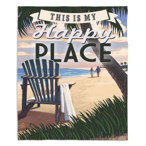 Artistic Sherpa Pile Blankets | Lantern Press - Beach Happy Place