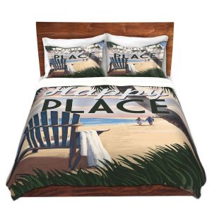 Artistic Duvet Covers and Shams Bedding   Lantern Press - Beach Happy Place