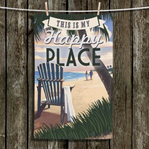 Unique Bathroom Towels | Lantern Press - Beach Happy Place