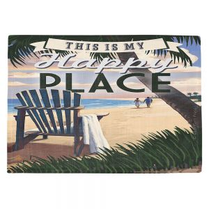 Countertop Place Mats   Lantern Press - Beach Happy Place