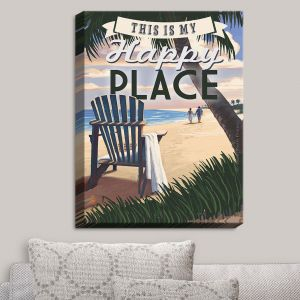 Decorative Canvas Wall Art | Lantern Press - Beach Happy Place