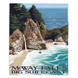 Decorative Fleece Throw Blankets | Lantern Press - Big Sur Coast California