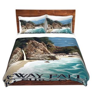 Artistic Duvet Covers and Shams Bedding | Lantern Press - Big Sur Coast California