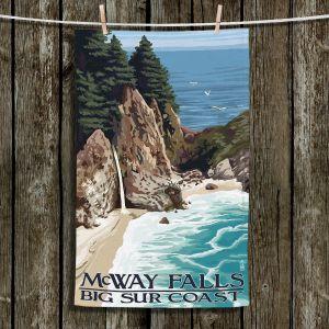 Unique Hanging Tea Towels | Lantern Press - Big Sur Coast California | Coast Big Sur Ocean
