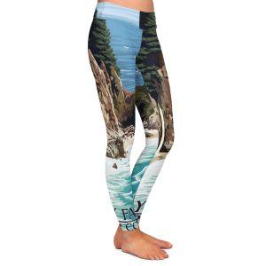 Casual Comfortable Leggings | Lantern Press - Big Sur Coast California