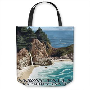 Unique Shoulder Bag Tote Bags | Lantern Press - Big Sur Coast California