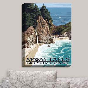 Decorative Canvas Wall Art   Lantern Press - Big Sur Coast California