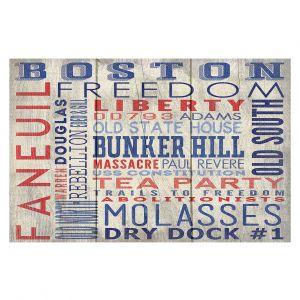 Decorative Floor Coverings | Lantern Press - Boston Quotes | Typography Words Massachusetts