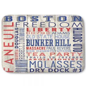 Decorative Bathroom Mats | Lantern Press - Boston Quotes | Typography Words Massachusetts
