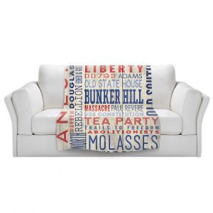 Artistic Sherpa Pile Blankets | Lantern Press - Boston Quotes | Typography Words Massachusetts