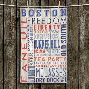 Unique Bathroom Towels   Lantern Press - Boston Quotes   Typography Words Massachusetts