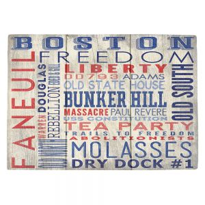 Countertop Place Mats | Lantern Press - Boston Quotes | Typography Words Massachusetts