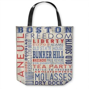 Unique Shoulder Bag Tote Bags | Lantern Press - Boston Quotes | Typography Words Massachusetts