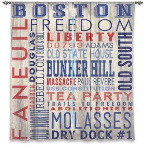 Decorative Window Treatments | Lantern Press - Boston Quotes | Typography Words Massachusetts