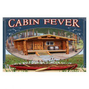 Decorative Floor Coverings | Lantern Press - Cabin Fever