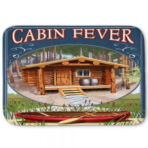 Decorative Bathroom Mats   Lantern Press - Cabin Fever
