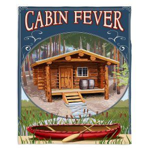 Decorative Fleece Throw Blankets | Lantern Press - Cabin Fever