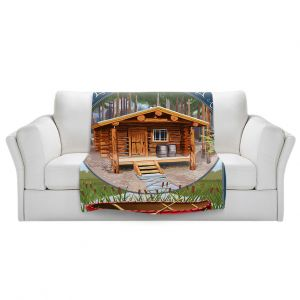 Artistic Sherpa Pile Blankets | Lantern Press - Cabin Fever