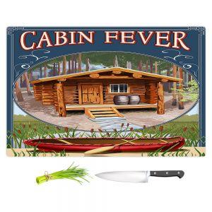 Artistic Kitchen Bar Cutting Boards   Lantern Press - Cabin Fever