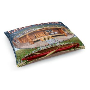 Decorative Dog Pet Beds | Lantern Press - Cabin Fever