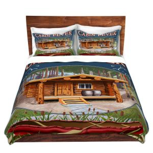 Artistic Duvet Covers and Shams Bedding | Lantern Press - Cabin Fever