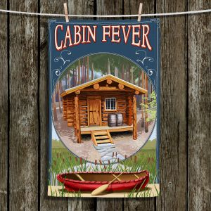 Unique Hanging Tea Towels | Lantern Press - Cabin Fever | Cabin Nature Boats