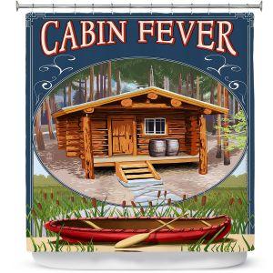 Premium Shower Curtains | Lantern Press - Cabin Fever