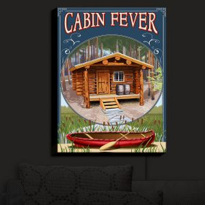 Nightlight Sconce Canvas Light | Lantern Press - Cabin Fever