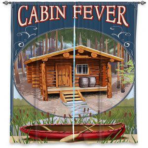 Decorative Window Treatments | Lantern Press - Cabin Fever