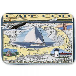 Decorative Bathroom Mats | Lantern Press - Cape Cod Map | Ocean Sea Massachusetts