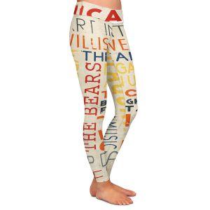 Casual Comfortable Leggings | Lantern Press - Chicago Quotes | Typography Words Illinois