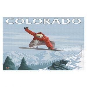 Decorative Floor Coverings | Lantern Press - Colorado Snowboarder
