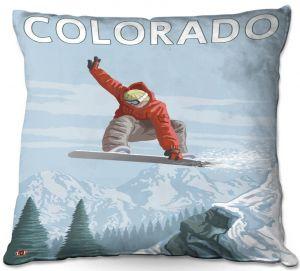 Throw Pillows Decorative Artistic | Lantern Press - Colorado Snowboarder
