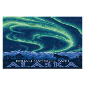 Decorative Floor Coverings | Lantern Press - Denali National Park Alaska I