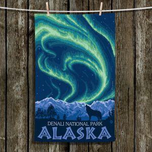 Unique Bathroom Towels   Lantern Press - Denali National Park Alaska I