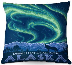 Throw Pillows Decorative Artistic | Lantern Press - Denali National Park Alaska I