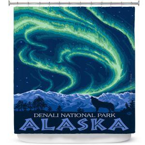 Premium Shower Curtains | Lantern Press - Denali National Park Alaska I