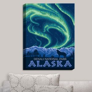 Decorative Canvas Wall Art   Lantern Press - Denali National Park Alaska I