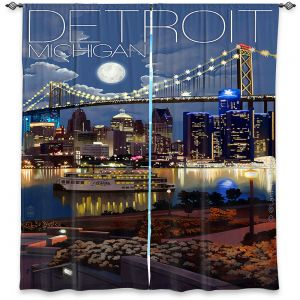 Decorative Window Treatments | Lantern Press - Detroit Michigan Skyline
