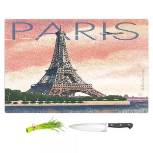 Artistic Kitchen Bar Cutting Boards | Lantern Press - Eiffel Tower Paris