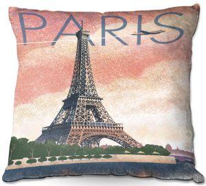 Throw Pillows Decorative Artistic   Lantern Press - Eiffel Tower Paris