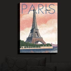 Nightlight Sconce Canvas Light | Lantern Press - Eiffel Tower Paris