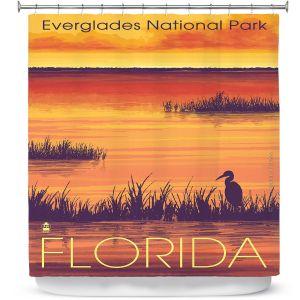 Premium Shower Curtains | Lantern Press - Everglades National Park Florida