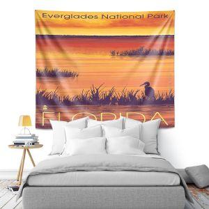Artistic Wall Tapestry | Lantern Press - Everglades National Park Florida