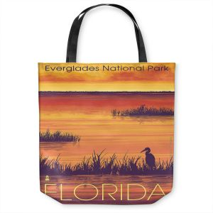 Unique Shoulder Bag Tote Bags   Lantern Press - Everglades National Park Florida