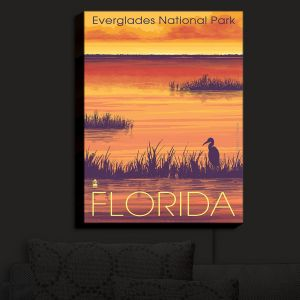 Nightlight Sconce Canvas Light | Lantern Press - Everglades National Park Florida