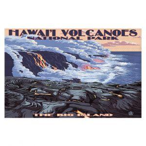 Decorative Floor Coverings | Lantern Press - Hawaii Volcanos | Ocean Nature Sea