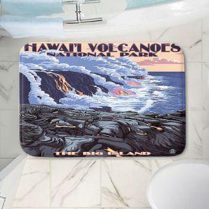 Decorative Bathroom Mats | Lantern Press - Hawaii Volcanos | Ocean Nature Sea